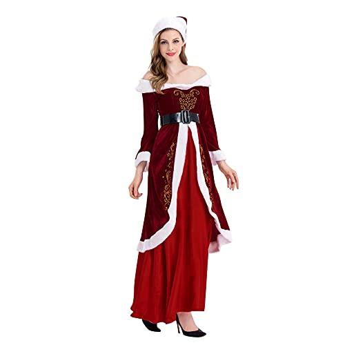 Vestido de princesa de Navidad para mujer, estilo vintage, disfraz de bruja para Halloween, rosso, XL ms