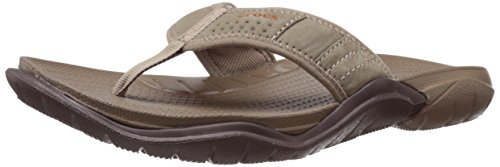 crocs Men's Swiftwater M Flip Flop, Walnut/Espresso, 7 M US