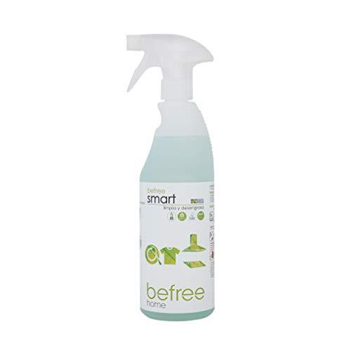 Befree Smart: Quitagrasas biodegradable ecologico. Detergente multiusos desengrasante en spray 750 ml. Quitagrasas formulado con agentes biológicos enzimáticos; ecofriendly. Ecoetiqueta / Ecolabel