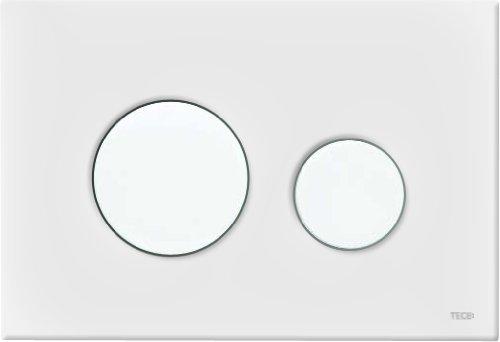 TECEloop WC Betätigungsplatte (für Zweimengenspülung, Maße 216x145x6 mm) kunststoff weiß, 9240600