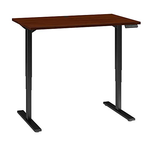 Move 80 Series 48W Height Adjustable Standing Desk in Hansen Cherry with Black Base