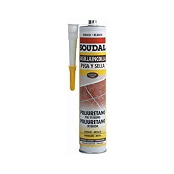 Soudal M123121 - Masilla poliuretano pega y sella 300 ml negro: Amazon.es: Bricolaje y herramientas