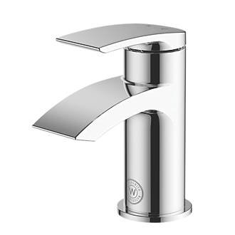 WATERSMITH HERITAGE WYE CLOAKROOM BASIN MONO MIXER WITH CLICKER WASTE, Profundidad: 114 mm, Ancho: 50 mm, Altura: 127 mm, Caudal (Ltr/Min): 4 Ltr/min, Color Cromo