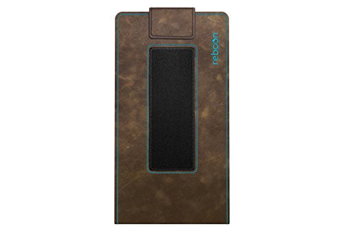 reboon Hülle für Apple iPhone SE Hülle für Apple iPod Touch Samsung Galaxy J1 Mini Xiaomi Mi 2S BLU Vivo 5 Mini Tasche Cover Hülle Bumper | Braun Wildleder | Testsieger