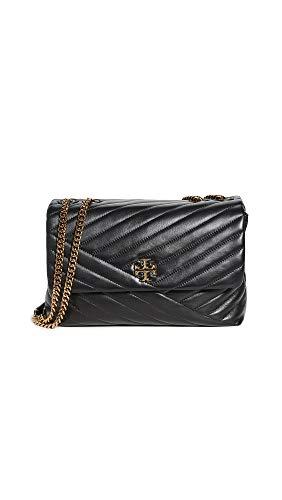 Tory Burch Women's Kira Chevron Convertible Shoulder Bag, Black, One Size