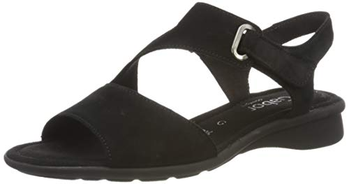 Gabor Shoes Damen Comfort Basic Riemchensandalen, Schwarz (Schwarz 47), 40 EU