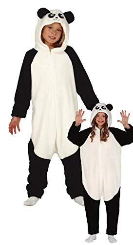 Guirca Panda Kostüm für Kinder - Größe 98-146 - Pandabär Jungen Fasching Karneval, Größe:140/146