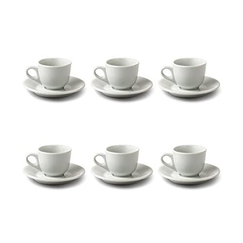 SCHÖNHUBER FRANCHI Set Composto da 6 Tazze e 6 piattini in Porcellana da caffè Margherita