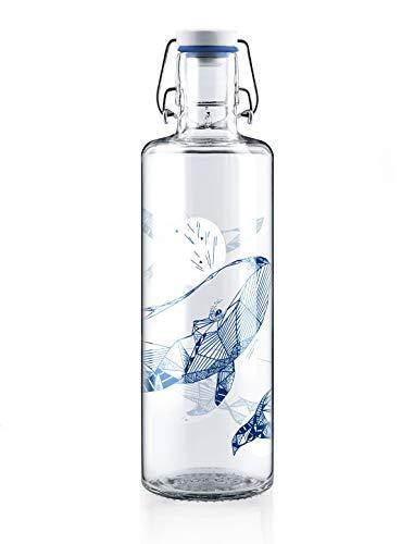 soulbottles 1,0l • souldiver • Trinkflasche aus Glas • vegan, plastikfrei, nachhaltig