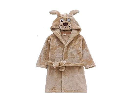 Albornoz para niños, albornoz con capucha de animales, para disfraz de cosplay, pijamas Gris Perro marrón XX-Small