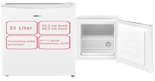 Gefrierbox Mini Gefrierschrank 31 Liter Weiß kleine Gefriertruhe Camping