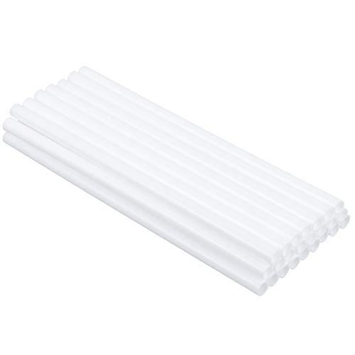 Firtink 24er Tortenstützen Weiße Kunststoff-Hohlsäulen für Kuchen-BAU und Kunst Handwerk