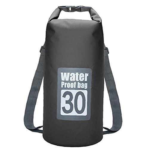 XKJFZ Bolsa Impermeable seco Piscina Mochila 30L con Correa Ajustable para el Kayak canotaje Deriva Negro, del Wet Natación