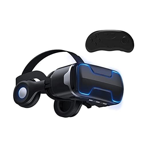 Visore VR 3D Occhiali Realtà Virtuale Cuffie Headset Glasses con Bluetooth Telecomando per Film Giochi per iPhone 12/11/Pro/X/Xs/Max/XR/Mini/8/7/6 per Android Samsung S/20/10/9/8/Plus/Note Smartphone
