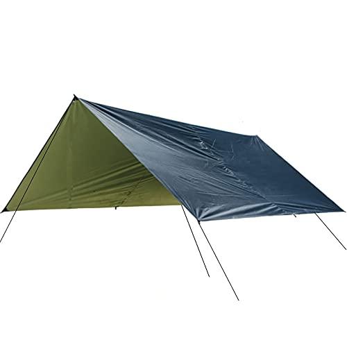 Hsientpe Toldo de Refugio Toldo Impermeable de Tienda de Campaña Ligero UV Protección Refugio para Acampar Aventura al Aire Libre,Negro,300 * 300cm