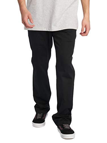 Volcom Men's Frickin Modern Fit Stretch Chino Pant, Black, 32W x 32L