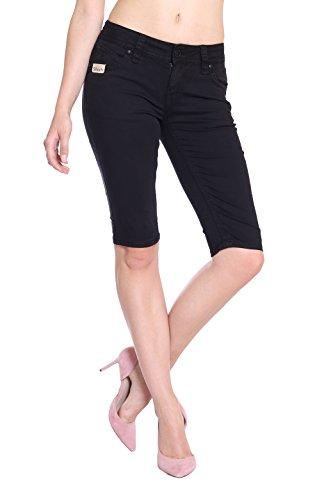 Blue Monkey Damen Jeans Shorts Melody 3941 Black Size 26