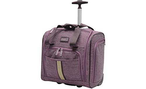 Nicole Miller Underseat Luggage Collection - Small Lightweight 15 Inch Under Seat Bag - Briefcase for Women - Carry On Suitcase with 2- Rolling Spinner Wheels (Cameron Lavender)