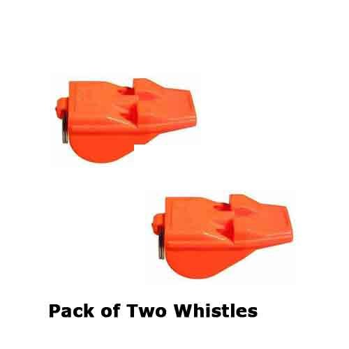 Paquete de dos silbatos Acme Tornado Day Glo, de color naranja, el silbato más potente del mundo