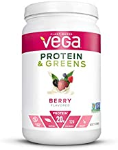 Vega Protein and Greens, Berry, Plant Based Protein Powder Plus Veggies - Vegan Protein Powder, Keto-Friendly, Vegetarian, Gluten Free, Soy Free, Dairy Free, Lactose Free (21 Servings, 1lb 5.5 oz)
