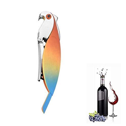 LYX Parrot apribottiglie, vino in acciaio inox apribottiglie, Seahorse Coltello Vino Knife Opener, Bottle Opener animali