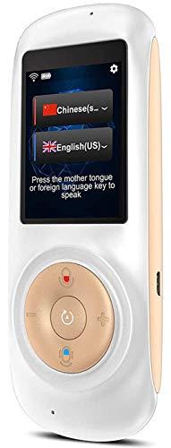 Elektronisches Intelligentes Sprachübersetzergerät,Übersetzer Sprache mit WiFi-Touchscreen-Verbindung, simultane Echtzeit-Translator, für die simultane Übersetzung von Mutter/Schüler/Ausland (white)