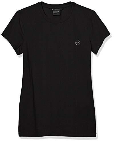 Armani Exchange Core Camiseta, Negro (Black 1200), X-Small para Mujer