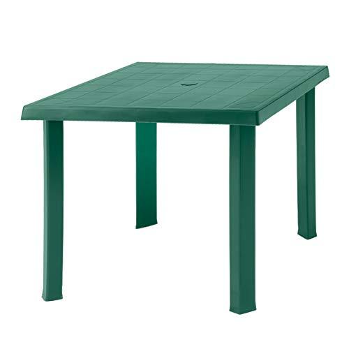 DIMAPLAST Tavolo Quadrato Modello Figaro Colore Verde 60345