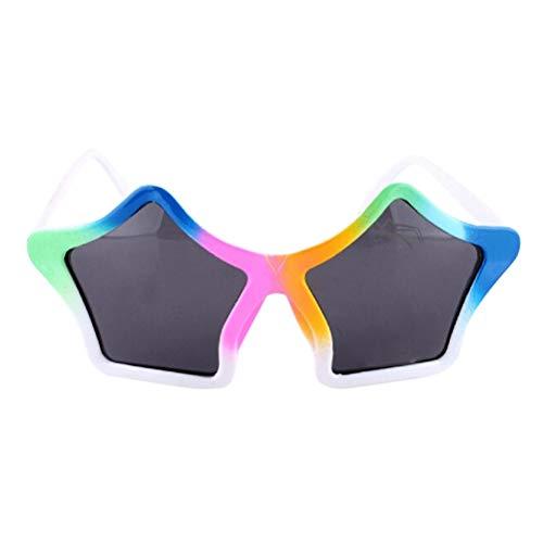BESTOYARD Gafas de sol con forma de estrella para niños, gafas de sol divertidas, para fiestas (multicolor)