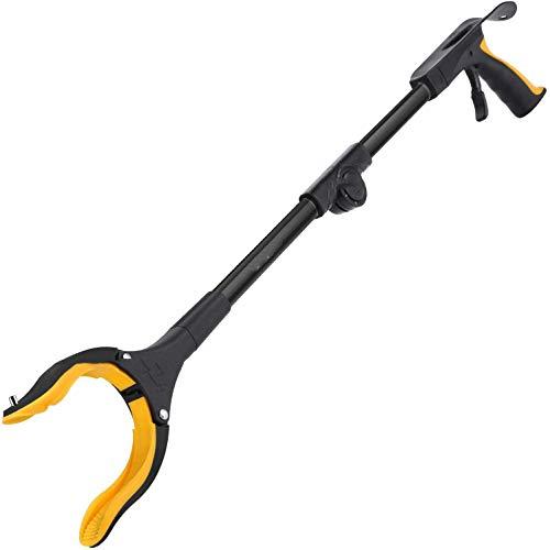 PYXZQW Pinza para agarrar Objetos, Reacher Grabber Tool, recogedor de Basura, recogedor de Basura para Ancianos, Calzador, Ligero, Plegable, Garra para Recogida, jardín de Cocina
