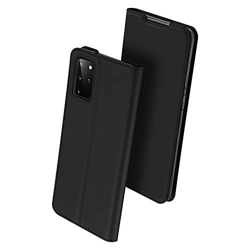 BaiFu Funda para Samsung Galaxy S20 Plus Wallet Case Protector Cuero Sedoso Ultrafino Magnético Billetera Carcasa Compatible con Samsung Galaxy S20 Plus-Negro