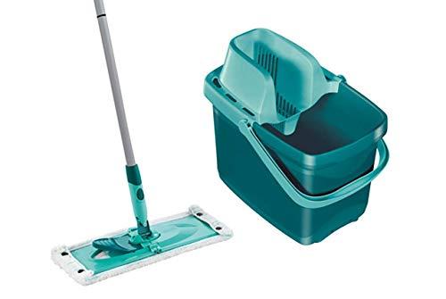 Leifheit Set Combi XL micro duo mit rückenschonendem Wischer, Wischtuchpresse für effektives Auswringen, extrabreiter und reinigungsstarker Bodenwischer, 12 L Eimer, inklusive 2-Faser Wischbezug