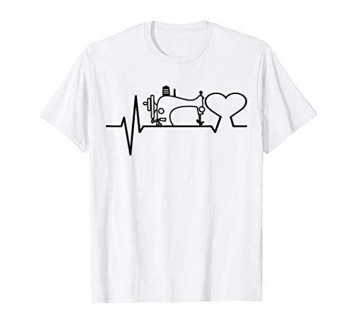costurera Cardiogram costurera máquina de coser tejido aguja Camiseta