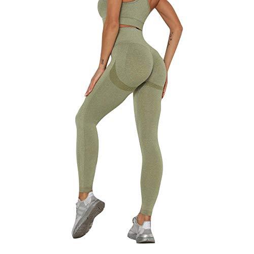Temporada de Verano Gym Yoga Pantalon Verde Leggings Yoga Cintura Alta Leggings Yoga Pantalon para Yoga Sport Jogging