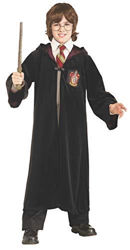 Rubie's 's Premium Harry Potter Disfraz Infantil de Terciopelo Albornoz con Gryffindor Emblem, Mediano