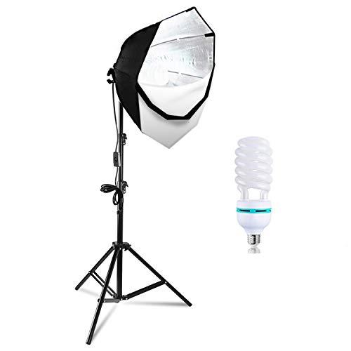 LimoStudio Photography Octagonal Soft Box Lighting Light Kit CFL 85W Bulb, Light Stand for Photo Studio Shooting, Size 26 Inch, AGG702
