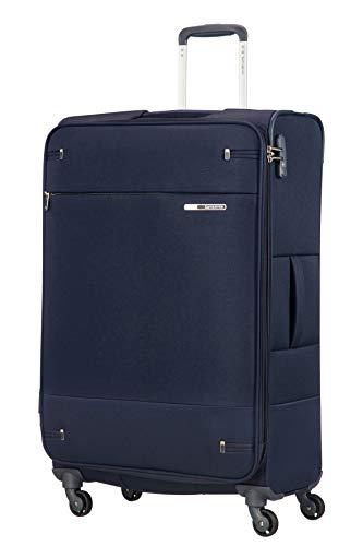 Samsonite Base Boost - Spinner L Erweiterbar Koffer, 78 cm, 105/112,5 L, Blau (Navy Blue)