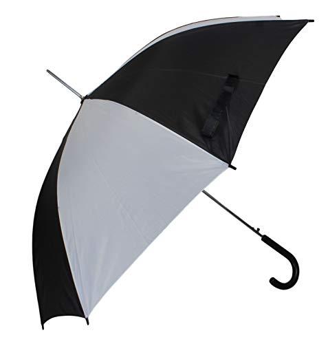 Automatik Schirm Stockschirm Regenschirm für Damen/Herren in schwarz/weiß