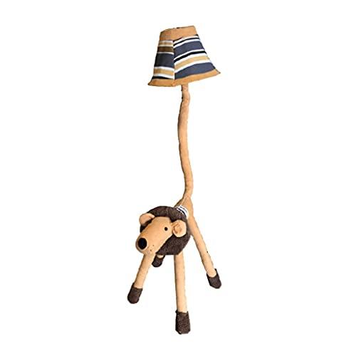 Lámpara De Pie Lámpara De Pie De Peluche Creativa Lámparas De Pie De Niña Lámpara De Lectura Lámpara Ajustable Linda Lámpara De (Color : Dimmable floor lamp)