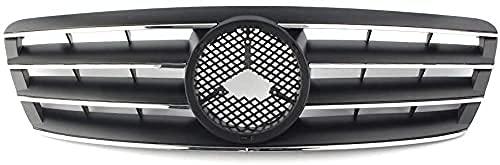 ENBAONB Rejilla Delantera de Coche, para Mercedes Benz W203 Clase C C230 C240 C320 C32 2000-2005 2006, radiador de Parachoques Delantero, Accesorios de Coche