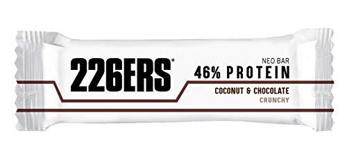 226ERS Neo Bar Protein, Barrita Proteína Bajas en Ázucar, Sin Gluten y Enriquecidas con Magnesio y Vitaminas, Coco & Chocolate - 1 barra x 50g
