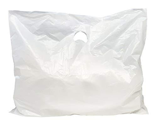 500 Stck. Tragetaschen 60x50 cm weiß 25my NEU Beutel Plastiktüten Tüten