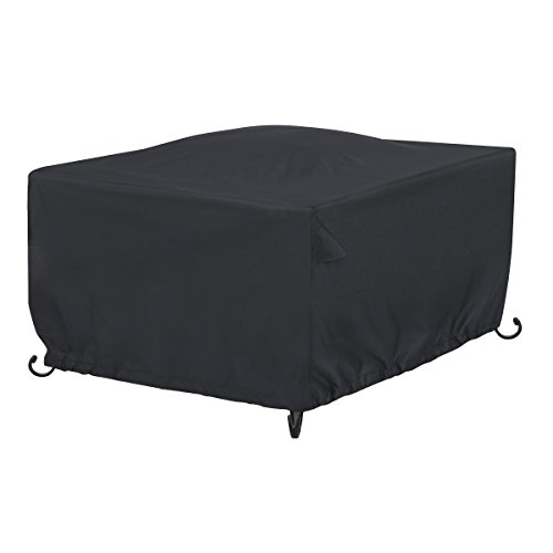 AmazonBasics Outdoor Square Patio Fire Pit or Table Cover, 42 Inch, Black