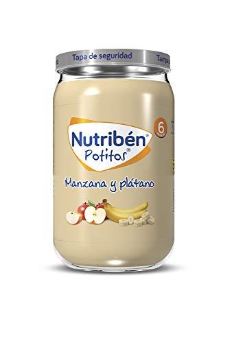 Nutribén Potitos de Manzana y Plátano Desde los 6 Meses, 235 G, Pack de 1