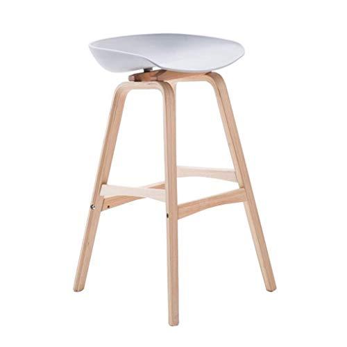 DBL Silla taburetes Taburetes Reposapiés de Madera del Respaldo sillas de Comedor for la Cocina/Bar