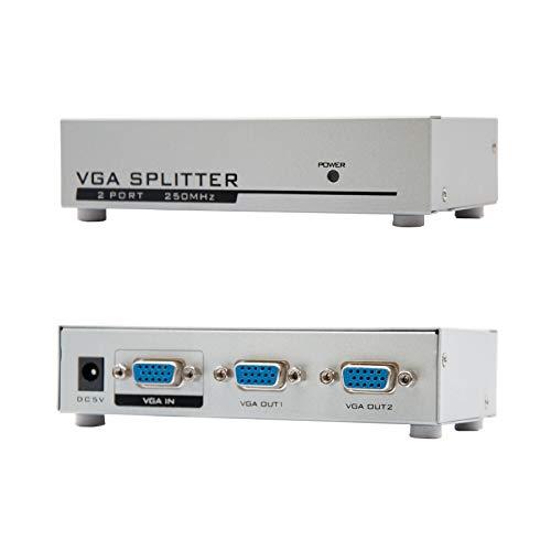 NANOCABLE 10.25.0002 - Duplicador SVGA para 2 monitores con alimentacion