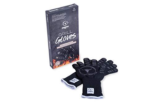 Moesta-BBQ 10375 - GrillGloves No.1 Größe L/XL für Profis - Bis 500°C hitzebeständiger Grill- / Ofen-Handschuh – LFGB