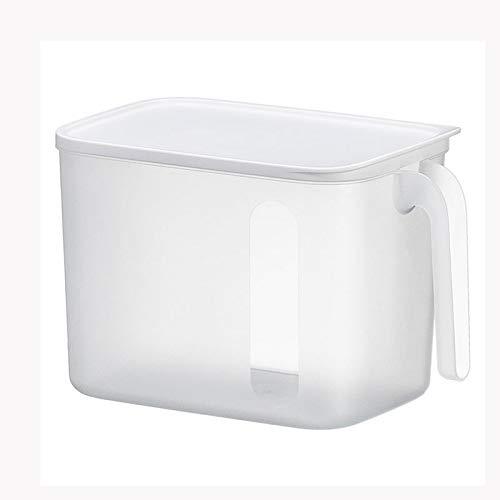 WZHZJ Gabinete de Cocina Frigorífico sellada Caja de Almacenamiento de contenedores con Tapa de Caja de la Caja Clasificación Varios bocados del alimento Organizador Misceláneas