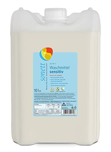 Sonett Lessive Sensitive : pure tenside végétale sans ingrédients pétrochimiques 100% biodégradables 10 l