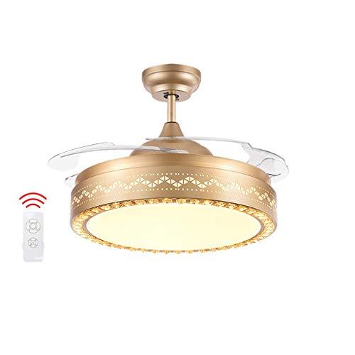 Luz del ventilador Ventilador de Techo 92 cm / 108 cm Restaurante hogar Dormitorio lámpara Ventilador de Techo LED40W Ventilador de Techo luz (Color : B-92cm)
